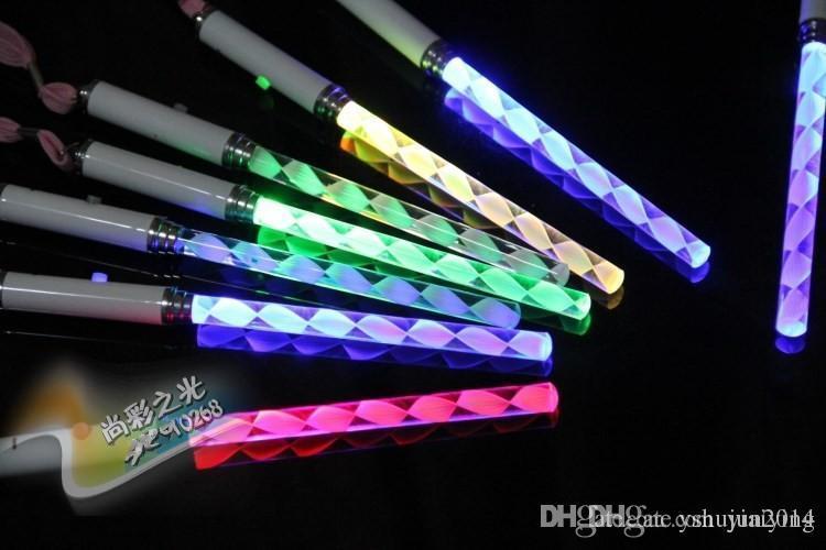 Noel Oyuncaklar LED Cheer Glow Sticks Akrilik Kabarcık Flaş Değnek Çocuklar Için Oyuncaklar Konser Bar disko Parti Malzemeleri