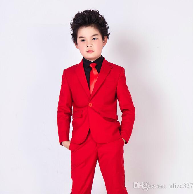 2018 klassische kinder kleidung chorus kostüme hochzeit blumenmädchen 3 stücke (jacke + pants + weste) Maßarbeit
