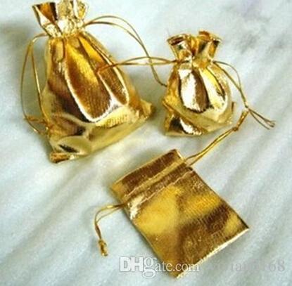 Altın Kadife 7x9 cm 5x7 cm İpli Kılıfı Çanta Noel Düğün Şeker Gümüş Hediye Çantası Takı Çantası 4 Boyutu Glitter 13x18 cm 9x12 cm Kılıfı Lvape