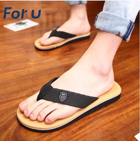 2015 New Summer Men Sandals,Soft Flip Flops,EVA Massage Beach Flat Shoes For Men Size 40-44