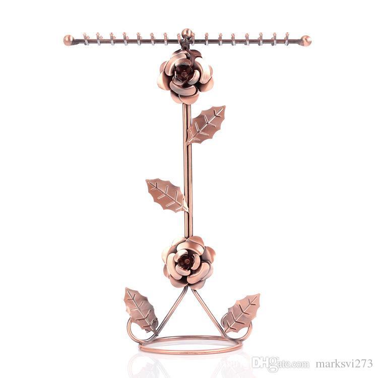 Iron Rose hanger ketting houder rack trui ketting sieraden display stand winkel decoratie huwelijksgeschenk