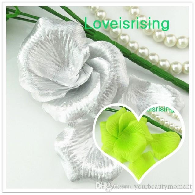 Горячая продажа-5 пачек (720шт) серебро высокое качество нетканые ткани искусственный цветок розы лепесток для свадьбы пользу декор