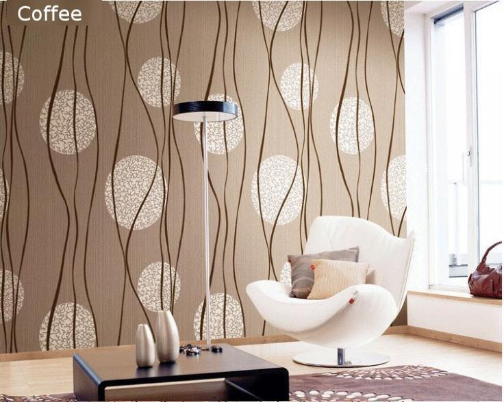 European Simple Circle Strip 3d Pvc Waterproof Embossed Wallpaper Home Decorvinyl Mural Wallpaper For Tv Background Living Room High Resolution