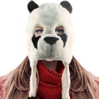 NEW Unisex Winter Furry Warm Animal Eye Hole Face Ski Mask Hat Trapper  Trooper Panda 300pcs 1fadc0b28804