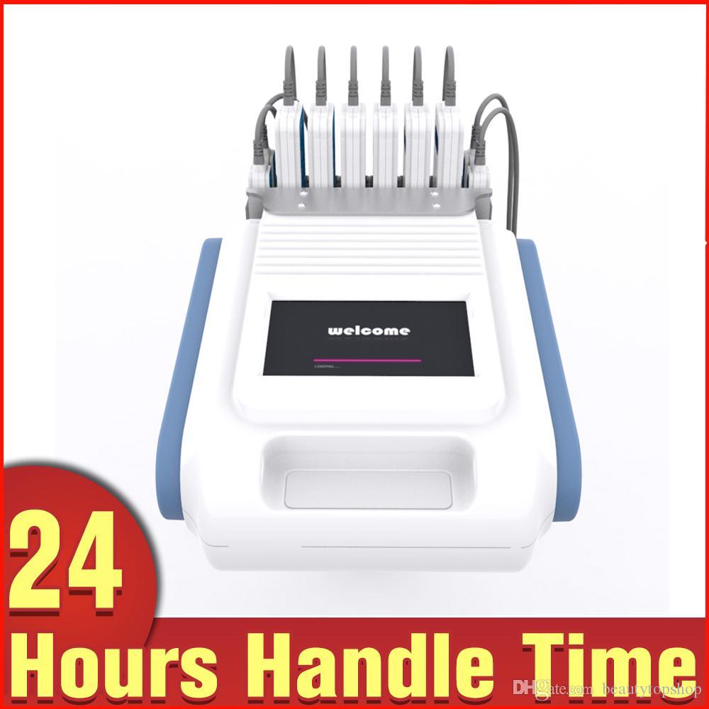 Portátil Azul Blanco Color de doble longitud de onda de 650nm 980nm Lipo láser que adelgaza la celulitis Tratamiento de spa equipo de la belleza