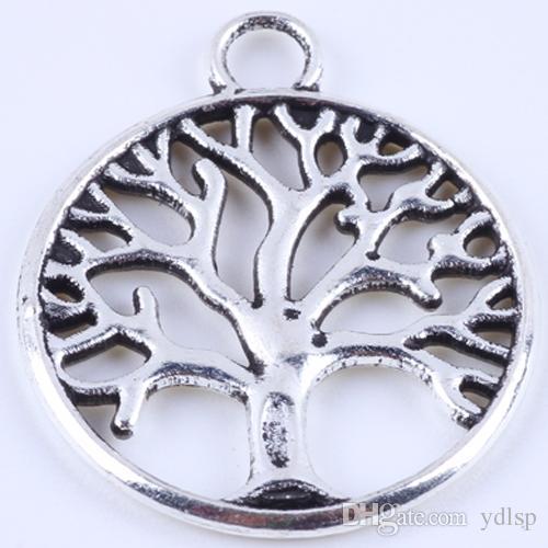 400pcs/много античная бронзовая круглый жизнь дерево Шарм DIY ЗАККИ ретро ювелирные изделия аксессуары сплав металл кулон 4888w