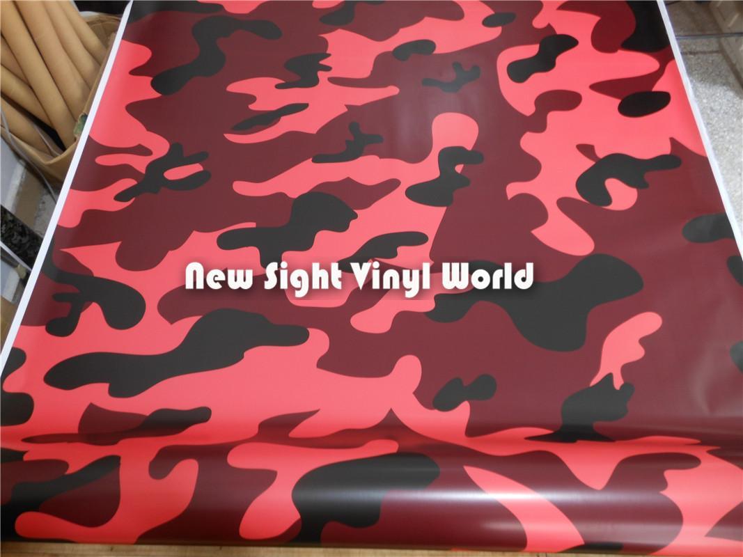 MINI ELITE ORANGE Camouflage Vinyl Vehicle Car Wrap Camo Film Sheet Roll