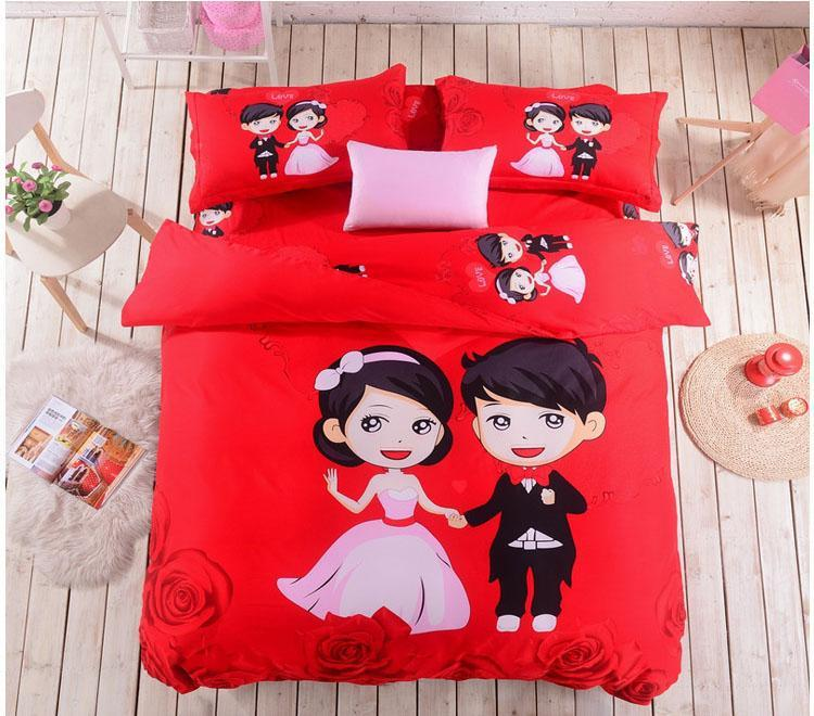 High Quality 100% Cotton Bedding Set 4PC Bed in a ...