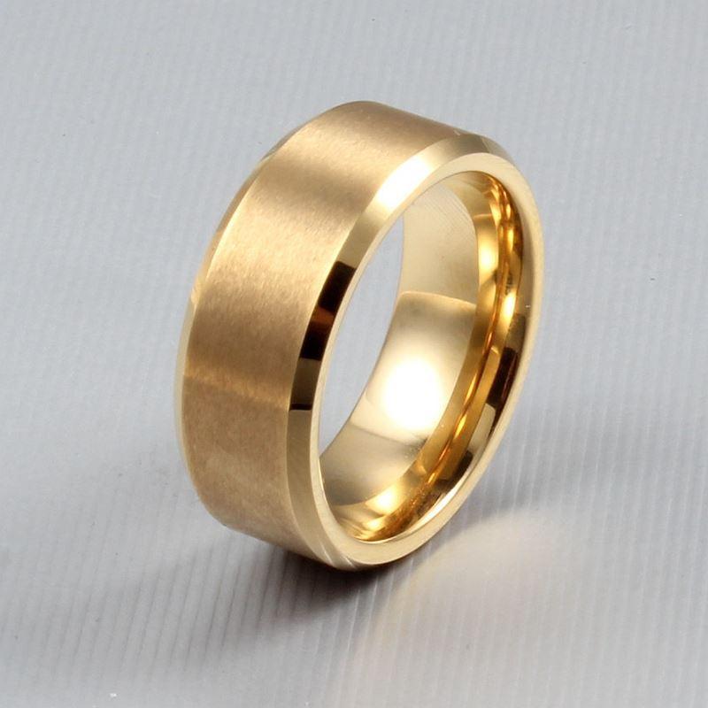 Nuevo envío gratis de calidad superior de tungsteno de tormogsten oro / negro / plateado hombres anillo clásico vestido de fiesta de boda joyería