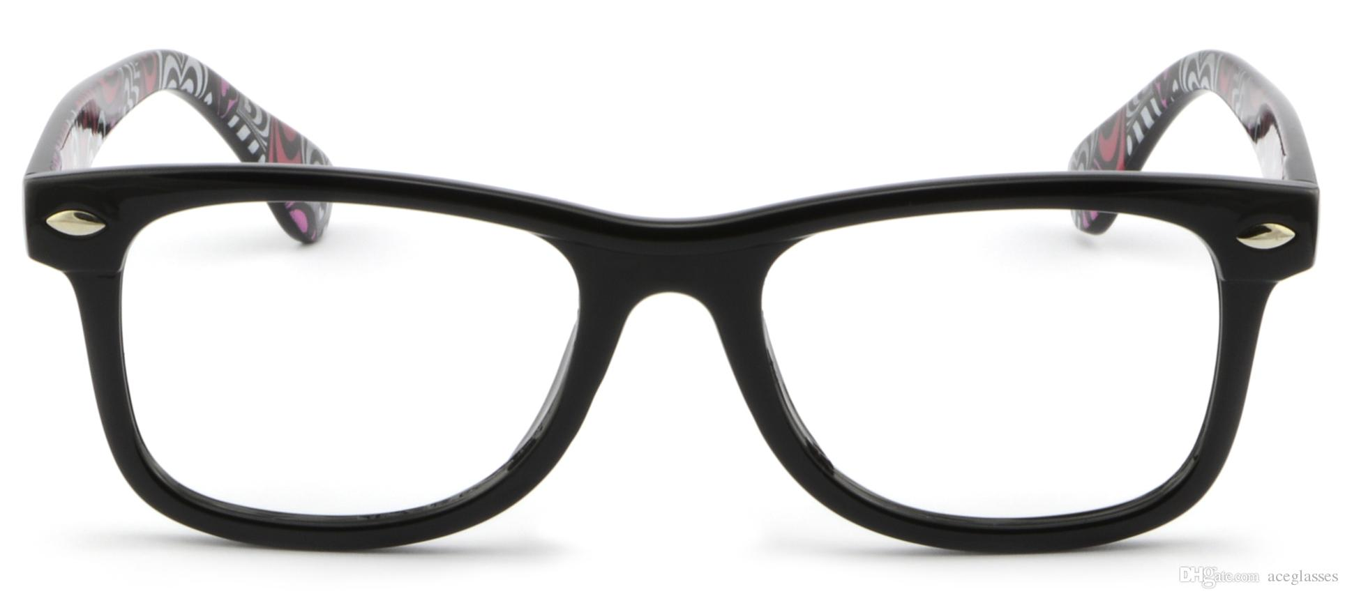 Full Rim Plastic Eyeglasses Mens Womens Frame Heart Swirled Pattern