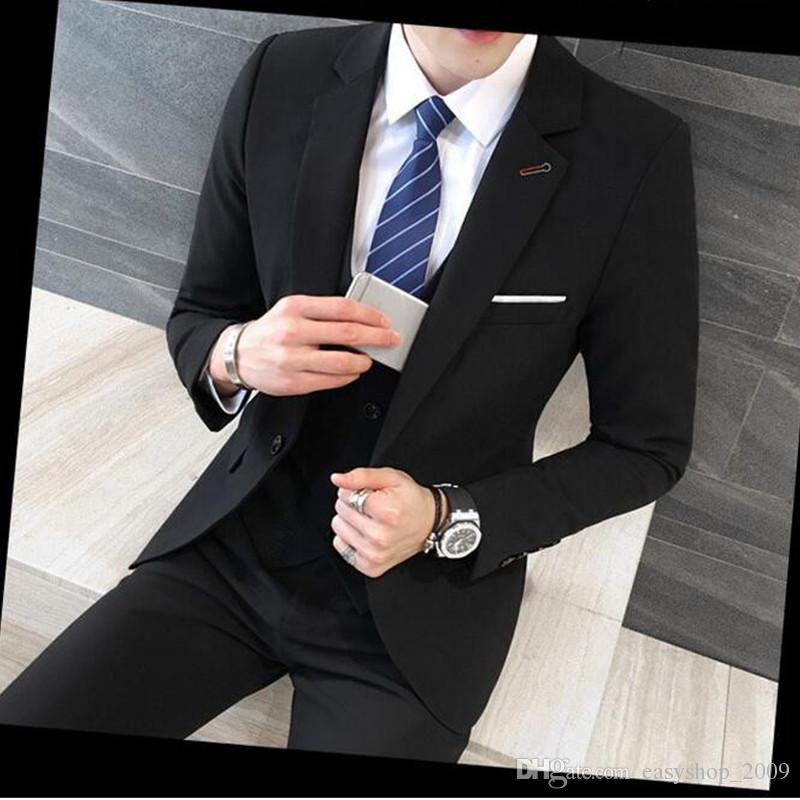 various styles dependable performance special discount 2019 Black Suit Latest Coat Pant Designs Suit Men New Arrival Slim Fit  Wedding Dress One Button Plus Size Men Suit 5XL M Hot From Easyshop_2009,  ...