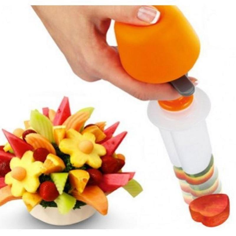 1 Set Diy Canape Cutter Food Shaper Maker Vegetable Fruit Salad Carving Desert Cake Mold Plastic Tool Perfect Decor For Party