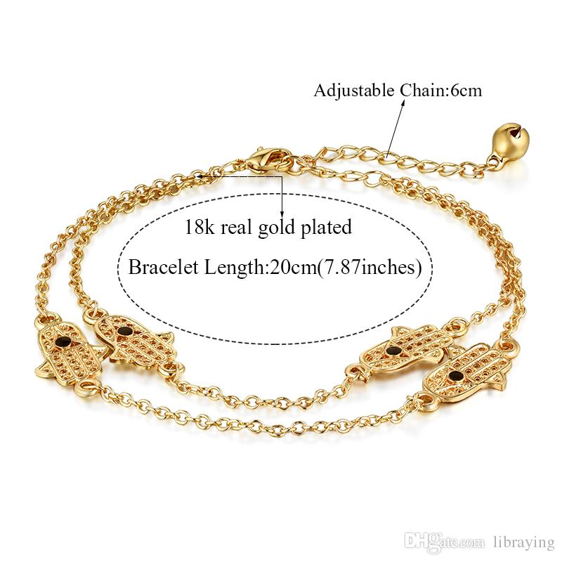 beach ankle accessories heart chain anklets charms cute gold red bead rhinestone foot anklet women plated jewelry bracelet bi