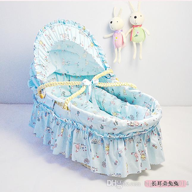 2017 hot soft and comfortable baby basket husk straw braid bassinet for wholesale baby carrycot travel bed portable cribs 7035cm from bigbigdeal2014