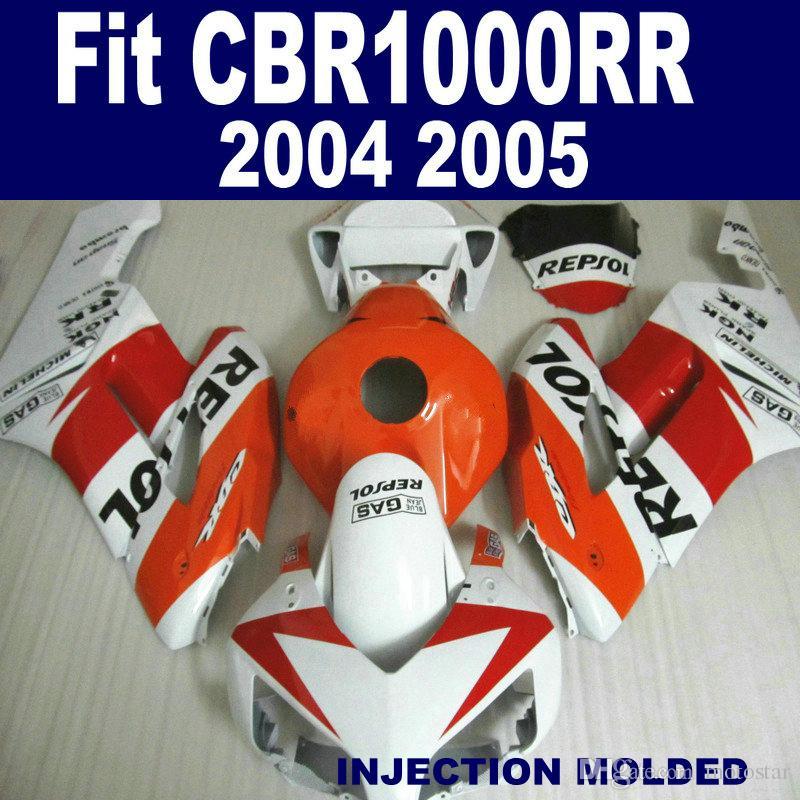 Injection mold Motorcycle fairing kit for HONDA 2004 2005 CBR 1000RR red black REPSOL aftermarket CBR1000RR 04 05 fairings set KA91