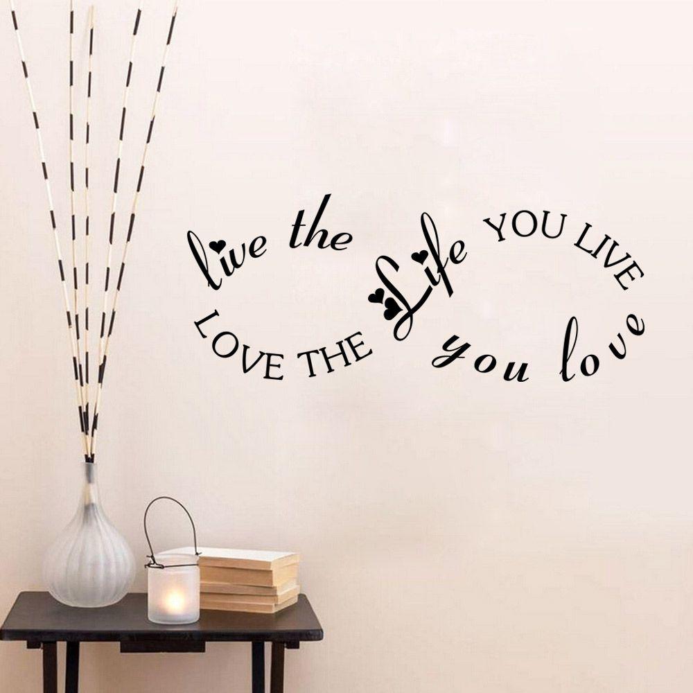Love the Life You Live love the live you live Wall Sticker Wall Art Home Decal Decor