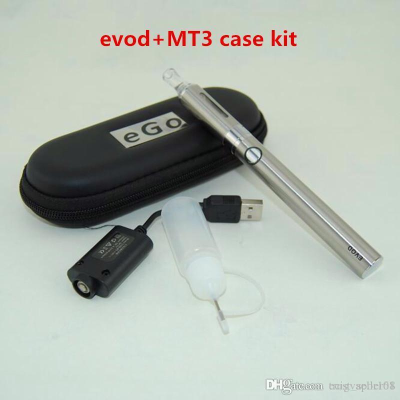 Evod MT3 Electronic Cigarettes Starter kits EVOD Battery ECigarette with E Cigarettes evod MT3 Vaporizer Atomizer tanks vape Pens case Kits