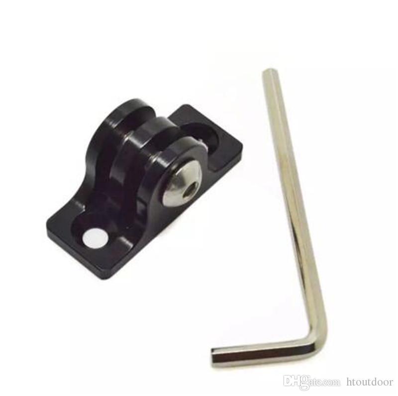 검정색 알루미늄 합금 평면 하단 장착 어댑터 + 18mm 나사 + 렌치 도구 세트 실외 스포츠 수정 액세서리 키트
