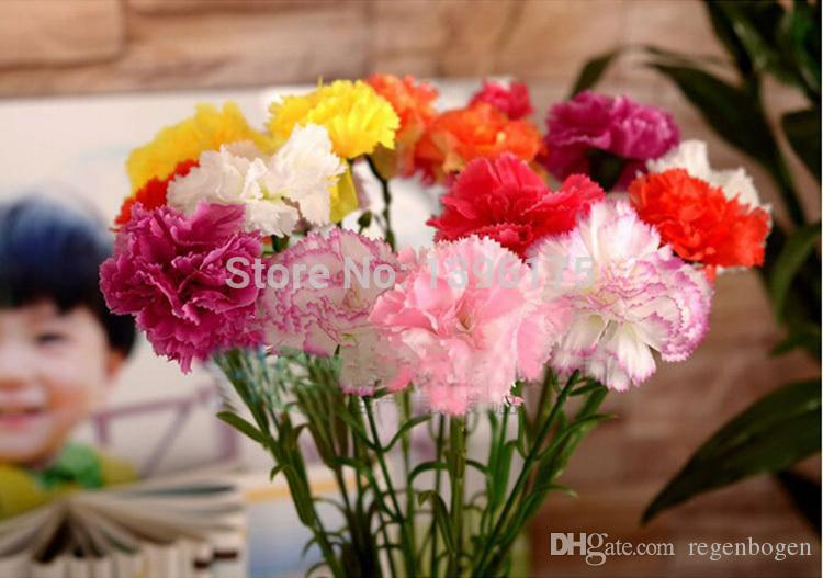Wholesale 40pcs/lot Real Touch Carnation silk flower artificial flowers Crafts for Home wedding Decoration free shipping