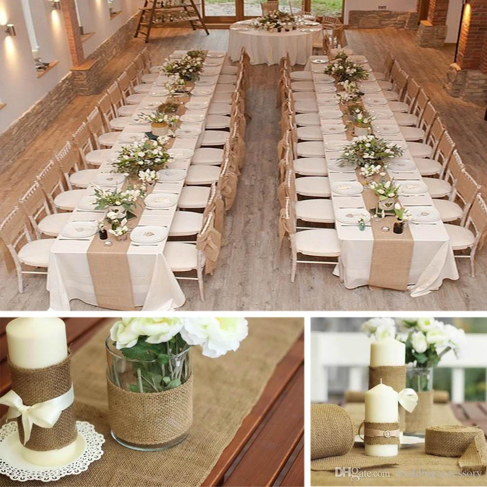 Vintage Burlap Jute Table Runner Hessian Roll For Wedding Party Banquet Home Decoration Size 10m 33cm Cmbj 33 Red Table Runner Red Table Runners From