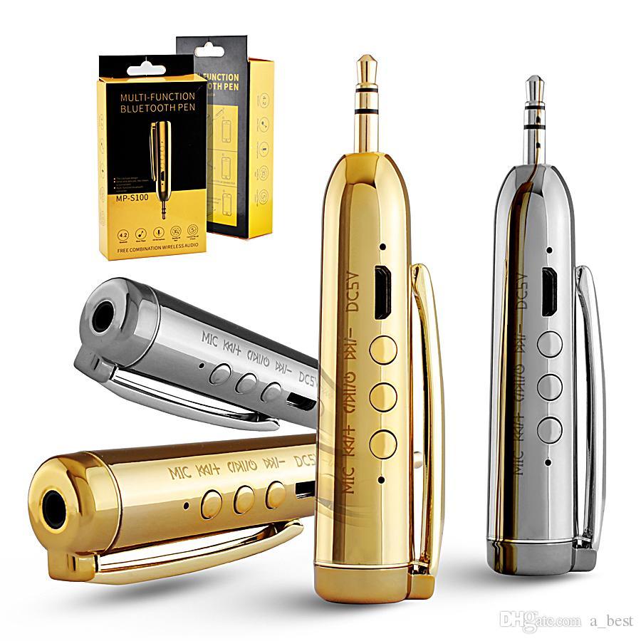 유니버설 3.5mm 미니 블루투스 차량용 키트 오디오 AUX 수신기 FM 송신기 어댑터 아이폰 8 7 클립과 함께 핸즈프리 삼성 Note 8
