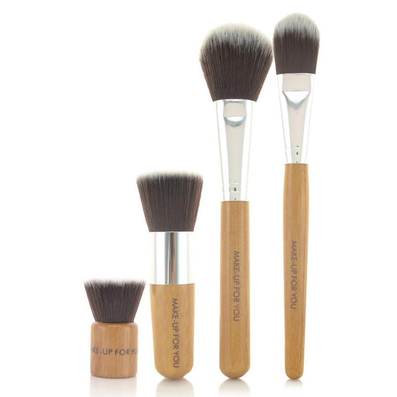 Makijaż dla ciebie Croons Foundation Blush Mini Round Toe Makeup Brush Pełny zestaw 4 szt
