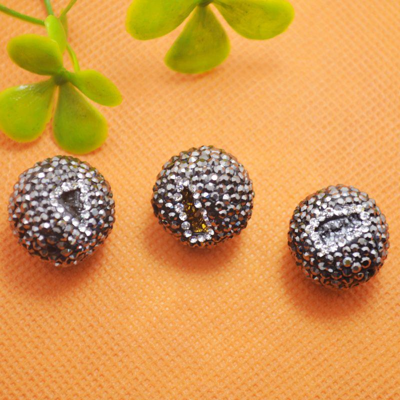 10pcs Mixed Color Smile Druzy Drusy Quartz Stone & Rhinestone Connector Spacer Beads Jewelry Finding