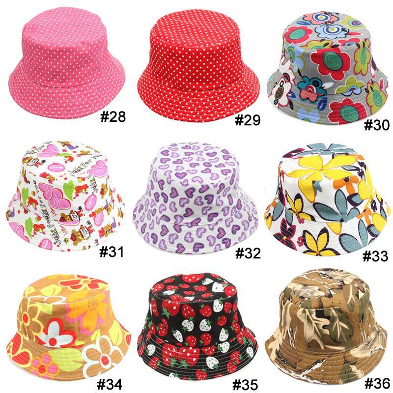 Мальчики девочки шляпа 36 стилей выбрать цветок животных камуфляж клубника печати ребенок шляпа шапки 10 шт. / лот