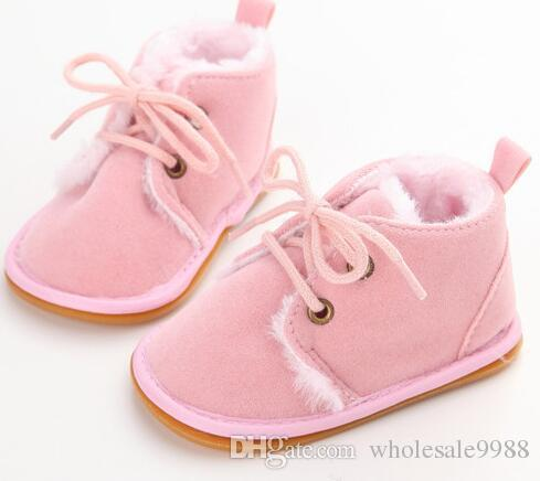 2018 baby Boots 2018 Cross-tied For Autumn/Winter Baby Shoes For Warm Baby Plush Boots Shoes Wholesale