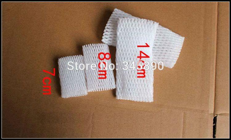 Оптовая продажа-бесплатная доставка Белый EPE толстые пены сетки пены рукав чистая, фрукты упаковочный материал 14 см*7 см оптовая цена