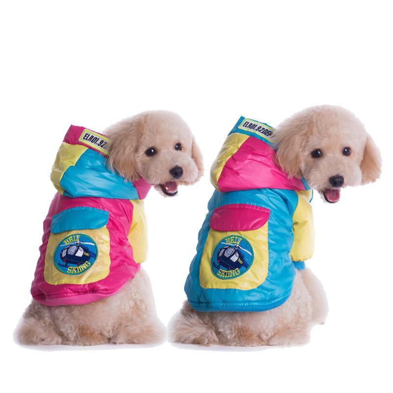 YENI VARıŞ kış evcil ceket aşağı köpek sıcak coat renk eşleştirme giyim köpek giyim kış outerwears casual giyim