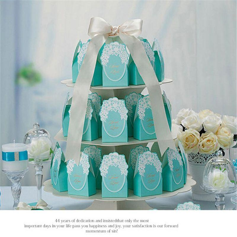 100Pcs Matrimonio / Compleanno Baby Shower Favore Candy Treat Bag Bomboniere Bomboniere Borse regalo Regali per feste