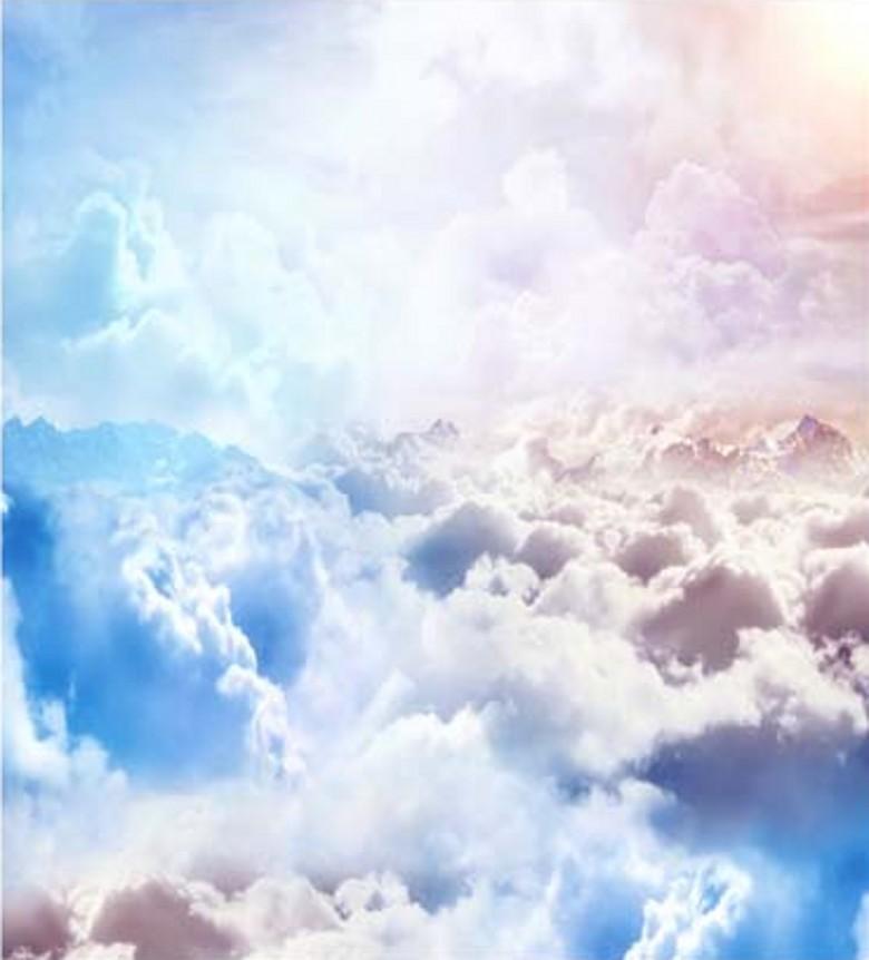 Groothandel Custom Beauty Sky Cloudy Scenic Photography Background For Baby Photo's Props Camera Fotografische Digitale Studio Vinyl Achtergronden