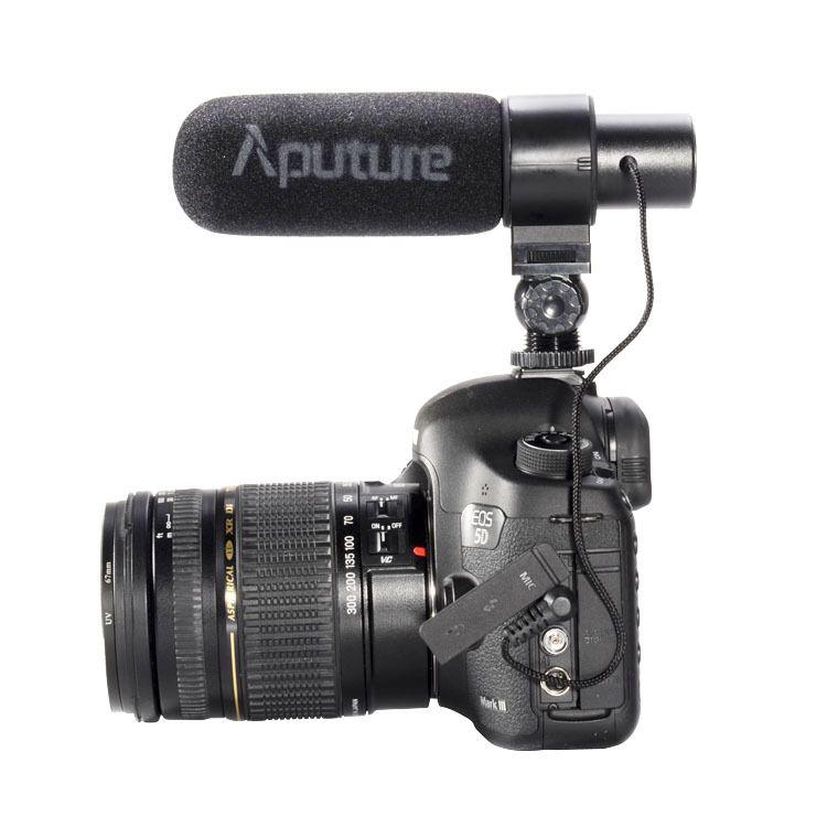 Aputure V-Mic D1 directionnel Shotgun à condensateur sur le microphone de l'appareil photo pour Canon Nikon Sony DSLR DV caméscope