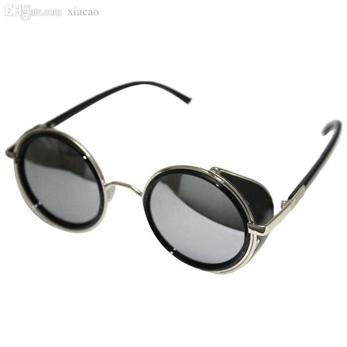 도매 SIF 미러 렌즈 라운드 안경 사이버 고글 Steampunk 선글라스 빈티지 JAN 01