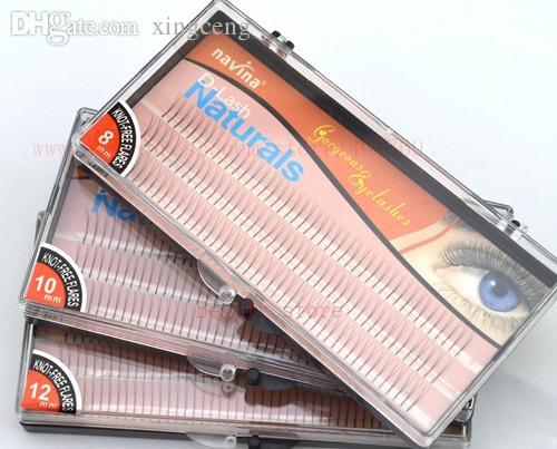 Wholesale-135 Knots Charming Lash 3 sizes D-lash 3 Hairs/Knot Natural Long Black False Eyelashes Individual Extension Set Free Shipping