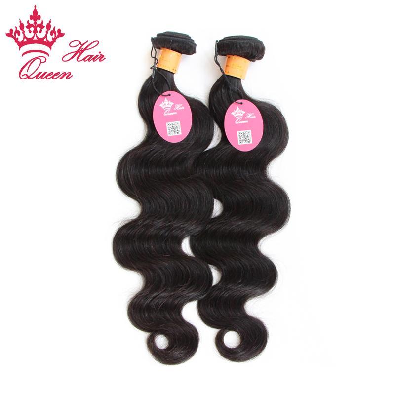 Cheveux vierges indiens vague de corps de reine 2 lots beaucoup Longueur mélangée Non transformés Vierge Cheveux humains corps indien vague extensions