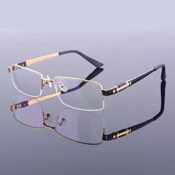 نمط جديد الرجال التيتانيوم الخالص النظارات إطارات النظارات إطارات نصف M8001 جودة عالية النظارات البصرية إطار نظارات