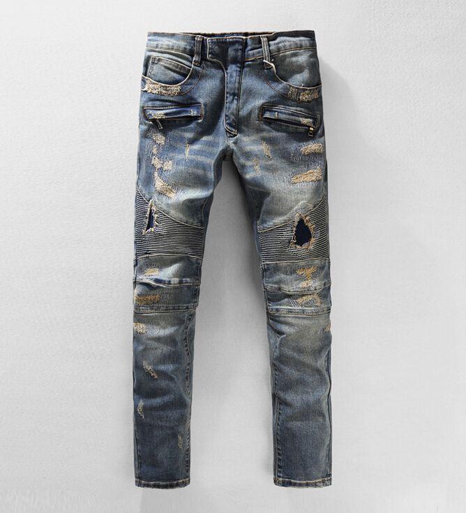 2017 New Hot Mens Designer Jeans Famous Brand Jeans Men Distressed ...