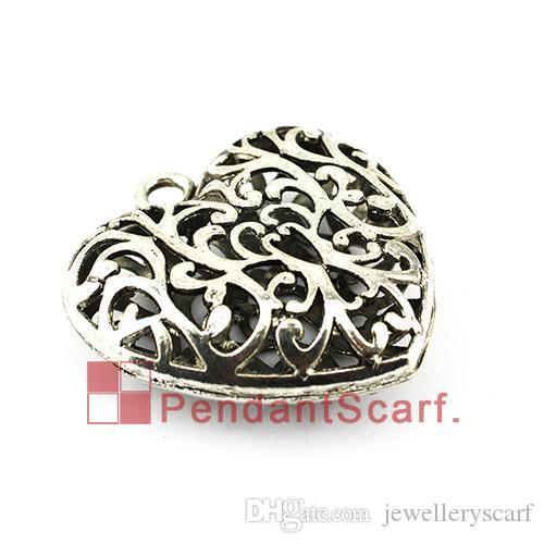 Moda Design DIY Naszyjnik Wisiorek Szalik Akcesoria Biżuteria Metal Hollow Out Charm Heart Scarf Wisiorek, Darmowa Wysyłka, AC0348