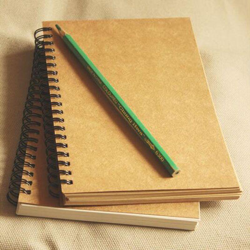 Bobina de espiral Retro notebook Diario Cuaderno de bocetos Diario de estudiante Nota Libro Memo Pad