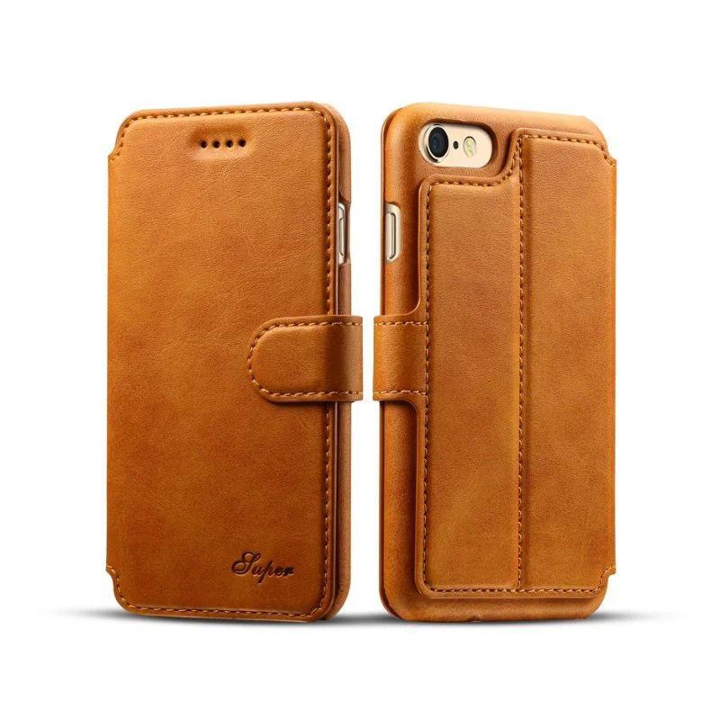 Nueva llegada Funda de cuero de lujo con billetera para billetera de cuero Iphone 7 8 6 6s Plus Funda con tapa Funda con ranura para tarjeta