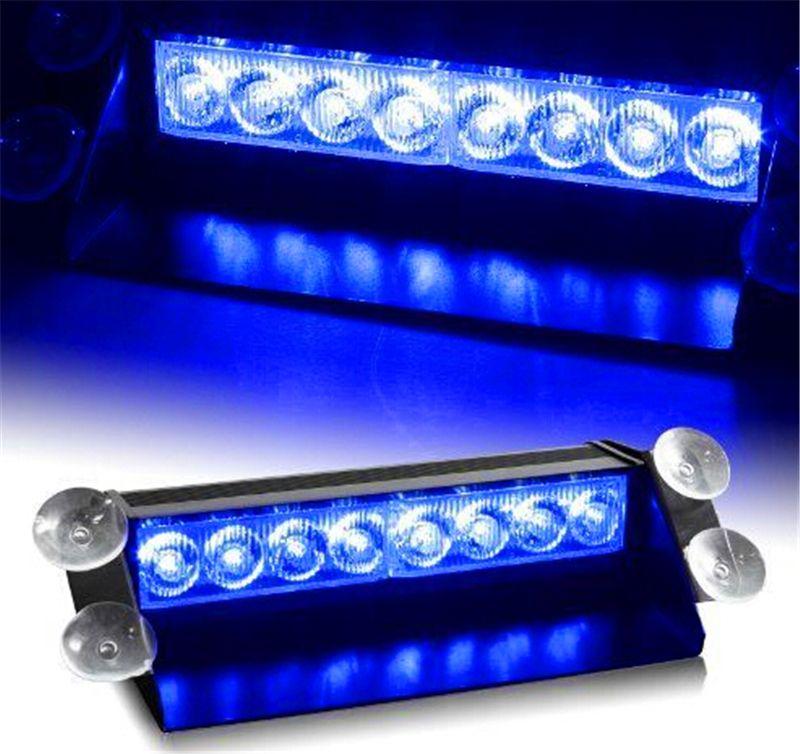 8 LED 스트로브 빛 8W 12V 자동차 플래시 라이트 비상 경고 라이트 높은 전력 무료 배송