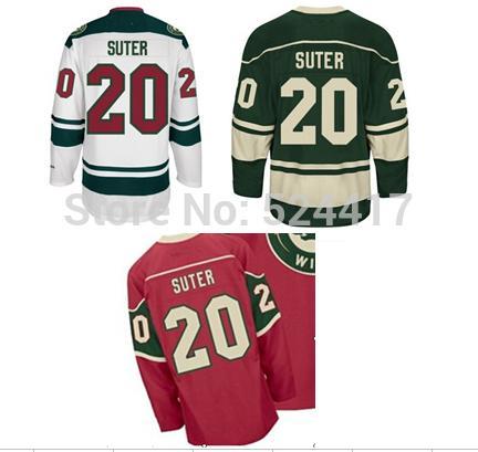 Cheap Ryan Suter Jersey #20 Minnesota Wild jerseys 100% Stitched Ice Hockey Jersey