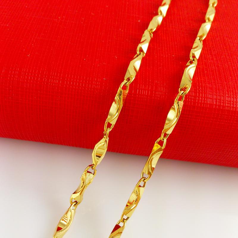 """18K желтое золото заполненные Мужчины Женщины ожерелье змея цепи GF ювелирные изделия 20 """" / 4 мм / 22 г свободный корабль на продажу"""