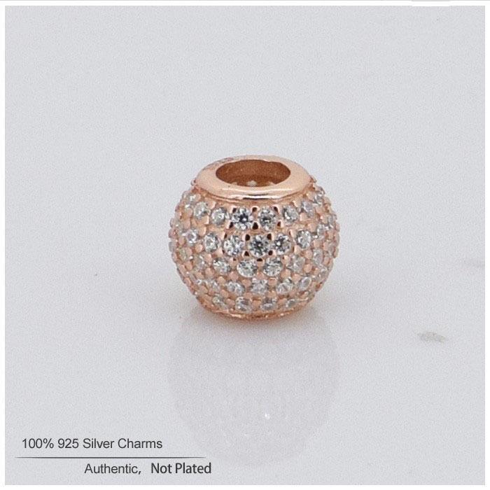 Se adapta a Pandora Charms Pulsera 925 joyas de plata esterlina 14k chapado en oro cuentas de cristal de las mujeres DIY joyería envío gratis venta al por mayor