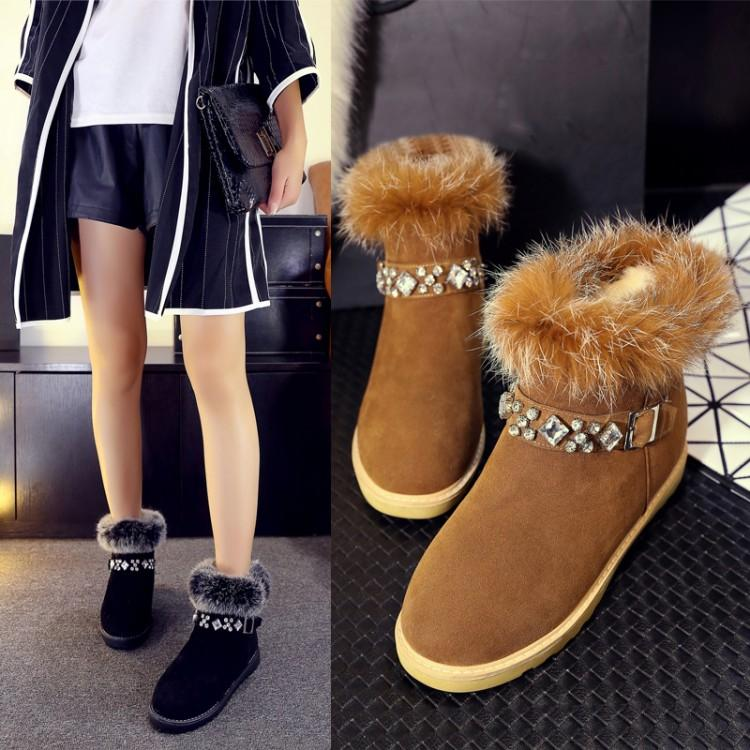 Cheap Pregnant Women Shoes Winter Snow Boots With Thick Soles Flat ...