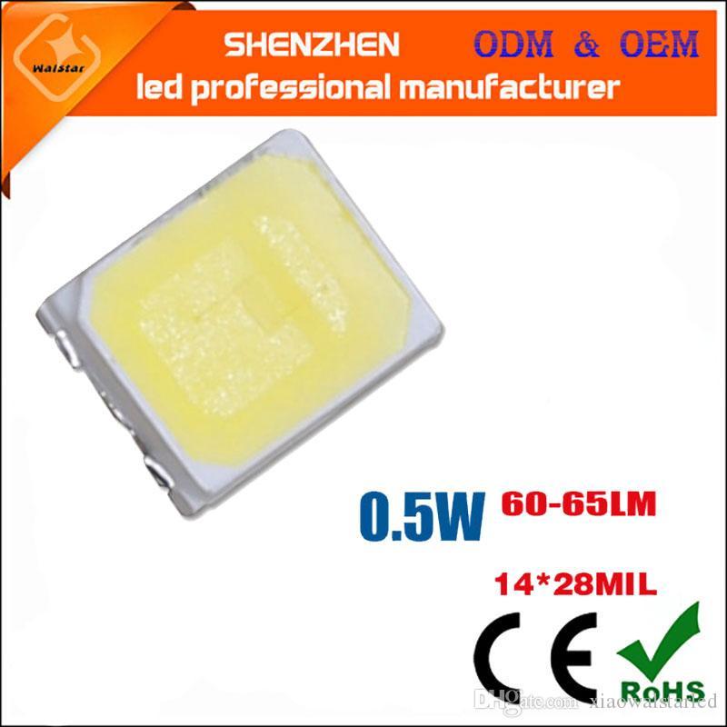 SMD2835 LED Chip 0.5W 3V 150mA de SMT de montage en surface LED Chip DIY Light Emitting Diode lampe SMD2835 lampe 0.5w perle