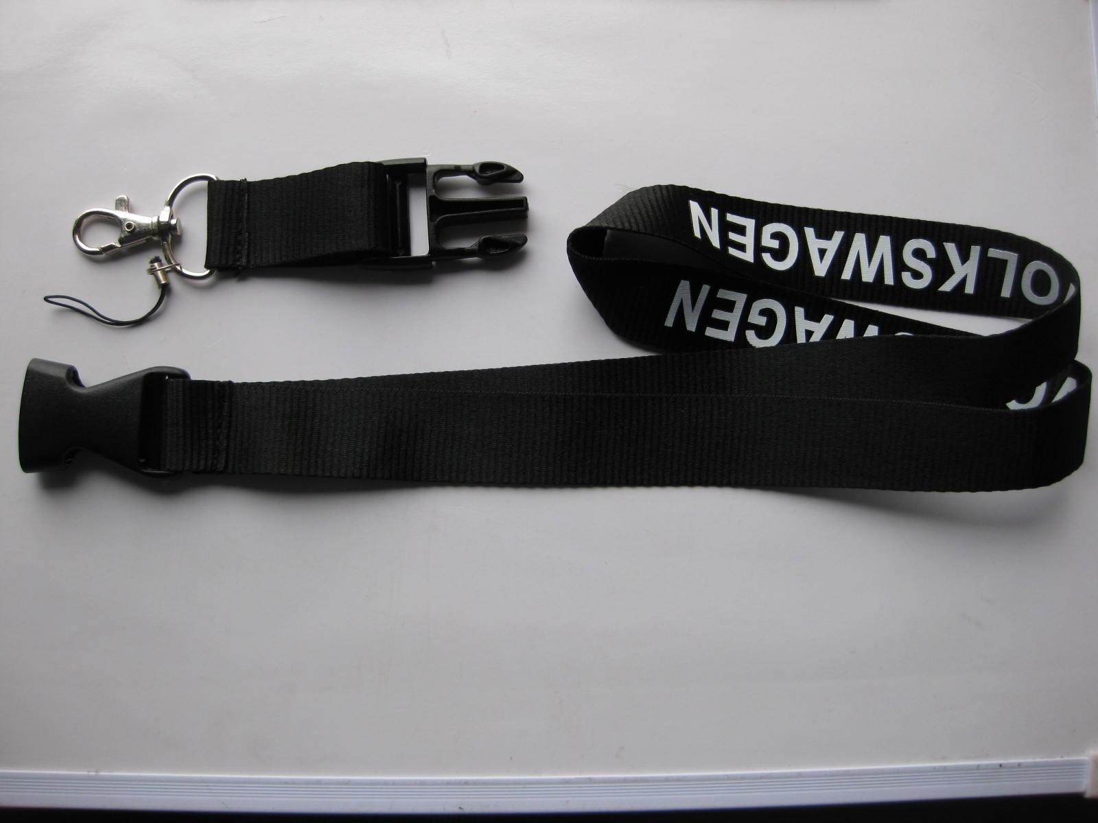 Lanyard sleutelhanger zwarte sleutelhangers voor golf auto sleutelhanger