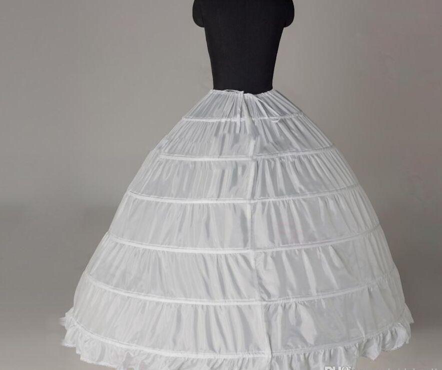 Fashion Subskirt Wedding Training Petticoats 1 Capa Accesorios nupciales Bola de bola Accesorios nupciales para quinceañera Vestido Vestido de bolas